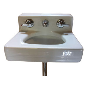 Vintage Circa 1960 Standard Wall Hung Dental Sink