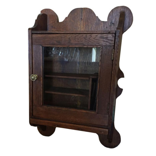 1890's Antique Quartersawn Oak Surface Mount Cabinet