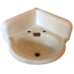 Antique Standard Cast Iron Corner Sink