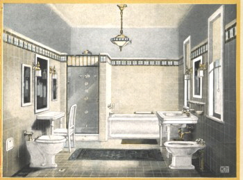1924 bathroom from a Mott Plumbing