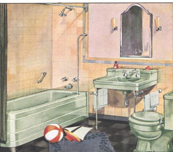 1936 bathroom pictured in this Crane catalog