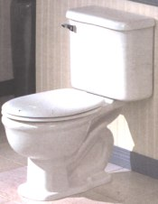 Modern toilets are Close coupled toilets
