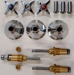 Kohler Three Handle Shower Faucet.Rebuild Kit For 1950 S Vintage Kohler 3 Handle Tub Shower