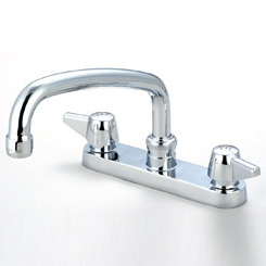 "54-760 6"" center kitchen faucet, chrome"