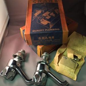 OF1589 NOS Crane single basin taps