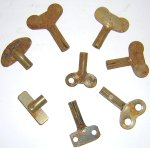 Key8B Stamped Steel Clockwork Toy Keys