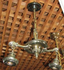 Vintage Two Bulb Aged Light Fixture