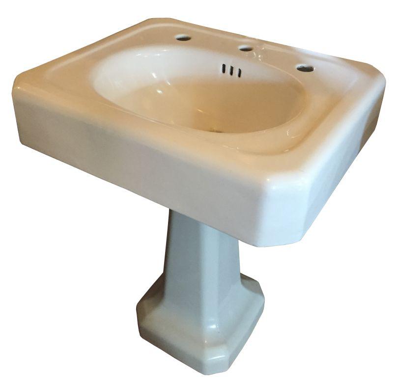 1930 S Vintage Standard Cast Iron Pedestal Sink Dea Bathroom Machineries