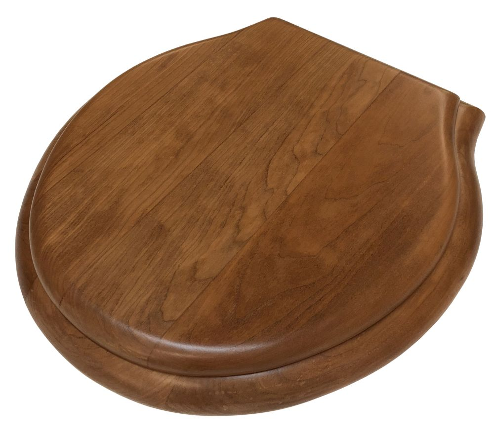 Wondrous Finished Cherry Round Front Toilet Seat Andrewgaddart Wooden Chair Designs For Living Room Andrewgaddartcom
