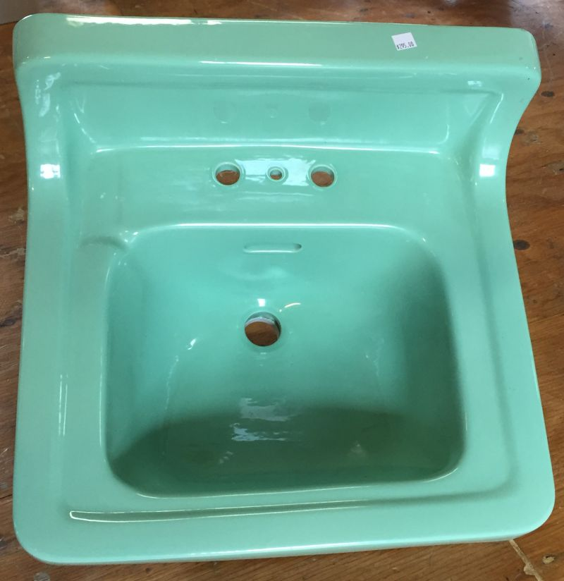 1950 S Vintage Standard Ming Green Wall Hung Bathroom Sink